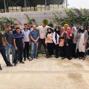 ביקור של המגזר הבדואי במרכז מבקרים שרותי אקולוגיה
