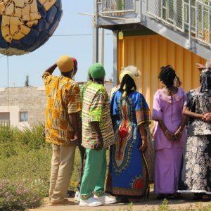 קבוצת העבריים ממצפה רמון במרכז המבקרים