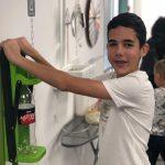 ילד אשר ביקר במרכז המבקרים בפורים 2019
